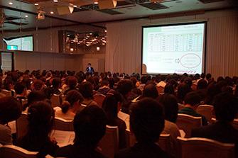過去の大阪府公立高校入試分析会の様子
